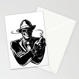 gangster skull. Stationery Cards