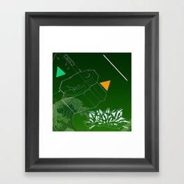 Green Wave Framed Art Print