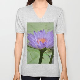 Blue Water Lilies in Hangzhou Unisex V-Neck