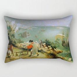 "Pieter Bruegel (also Brueghel or Breughel) the Elder ""Landscape with the Fall of Icarus"" Rectangular Pillow"