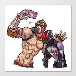 Krieg and Zer0 selfie Canvas Print
