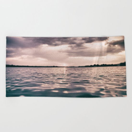 The calm #lake Beach Towel