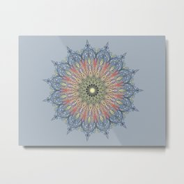 swirl mandala Metal Print