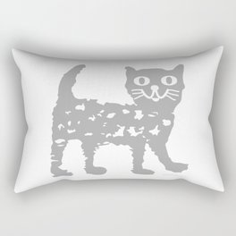 Gray cat pattern Rectangular Pillow