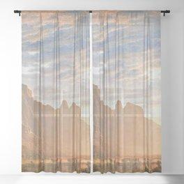Classical Masterpiece Yosemite Valley by Albert Bierstadt Sheer Curtain