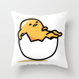 Lazy Egg Throw Pillow