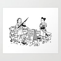 Support Your Scouts Art Print