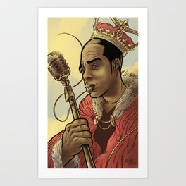 Proclaimed King of Rap Art Print