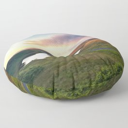Vanishing Lakes,Ireland,Northern Ireland,Ballycastle Floor Pillow