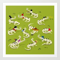 Crocodile Couture Art Print