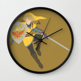 Link(Smash)Gold Wall Clock