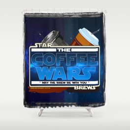 Star Brews - The Coffee Wars - Jeronimo Rubio Photography and Art 2016 Shower Curtain
