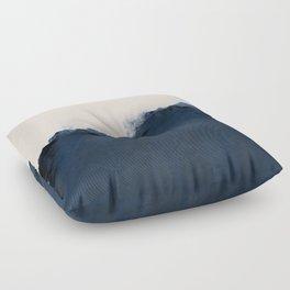 Abstract, blue, beige, indigo Floor Pillow
