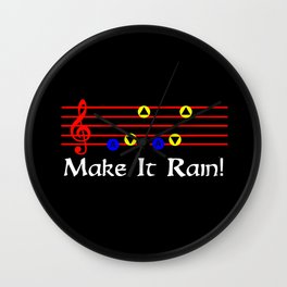 Make It Rain! - Song Of Storms (The Legend Of Zelda: Ocarina Of Time) Wall Clock