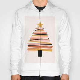 Ribbon Christmas Tree - neutrals Hoody