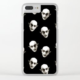 Dracula pattern Clear iPhone Case