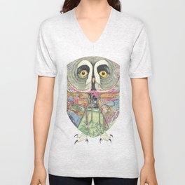 Great Grey Owl Unisex V-Neck