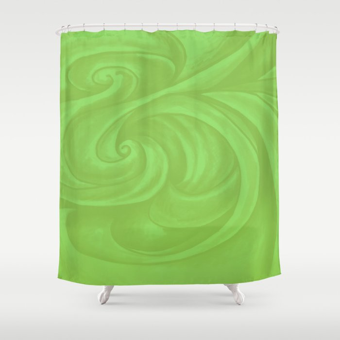 Lime Green Shower Curtain By Swirls