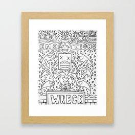 Emotional Wreck Framed Art Print