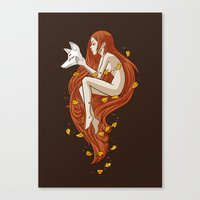 freeminds Canvas Prints featuring Kitsune by Freeminds