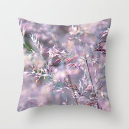colourful grasses Throw Pillow
