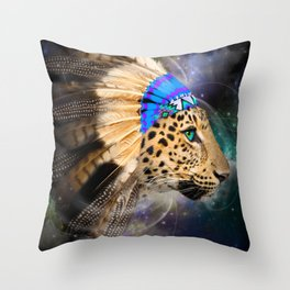 Fight For What You Love (Chief of Dreams: Leopard) Tribe Series Throw Pillow
