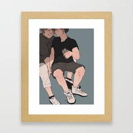 Iwaizumi & Oikawa Framed Art Print