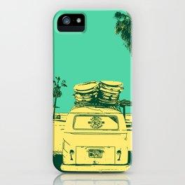 California Surf Bus, Palm Beaches and Getting Rad. USA Road Trip, Travel Dreams. iPhone Case