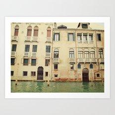 Venice Waterways Art Print