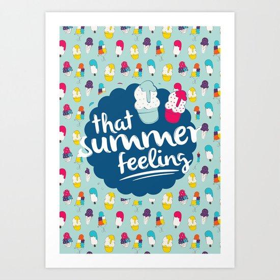 That summer feeling - Blue Art Print