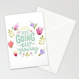 Keep Going Keep Growing Stationery Cards