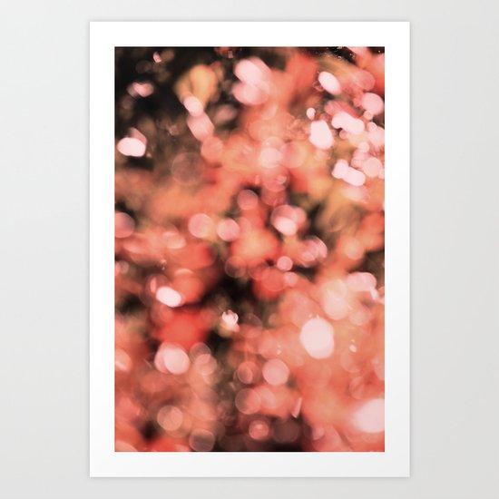 Bokeh Bubbly Art Print