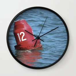 Buoy 12 south Wall Clock