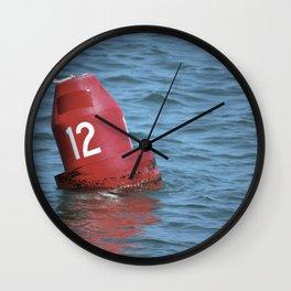 Buoy 12 south Wall Clock