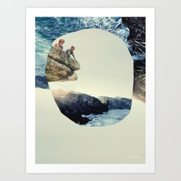 Meet on the Ledge Art Print