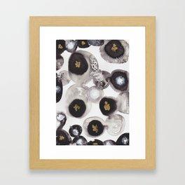 """Flowing Circles"" - Karla Leigh Wood Framed Art Print"