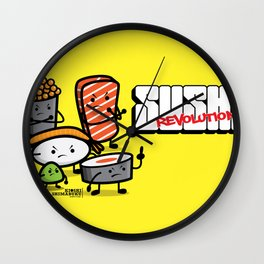 Sushi Revolution Wall Clock