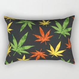 Cannabis. Grunge pattern Rectangular Pillow
