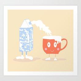 Milky Couple Art Print