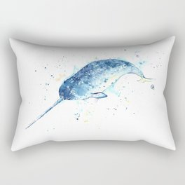 Narwhal - Unicorn of the Sea Rectangular Pillow