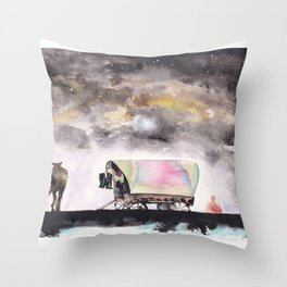 Rising stars above Throw Pillow