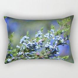 Light Blue Juniper Berries Rectangular Pillow