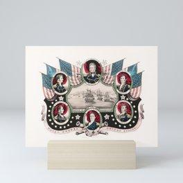 Battle of Lake Champlain - War of 1812 Naval Print Mini Art Print