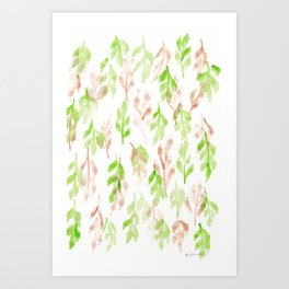 180726 Abstract Leaves Botanical 26 |Botanical Illustrations Art Print