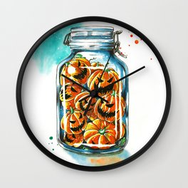 pickled pumpkins Wall Clock