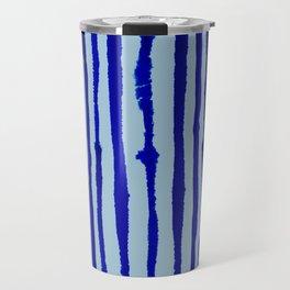 Blue Stripes Watercolor Pattern Travel Mug