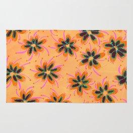 Orange Mint Lillies Rug
