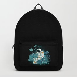 A reader lives a thousand lives - Cosmonaut Under The Sea Backpack
