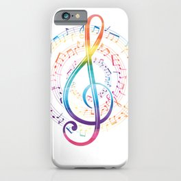 Harmony Music Clef iPhone Case