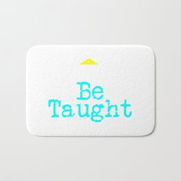 Can't Be Taught | Bold Neon Bath Mat